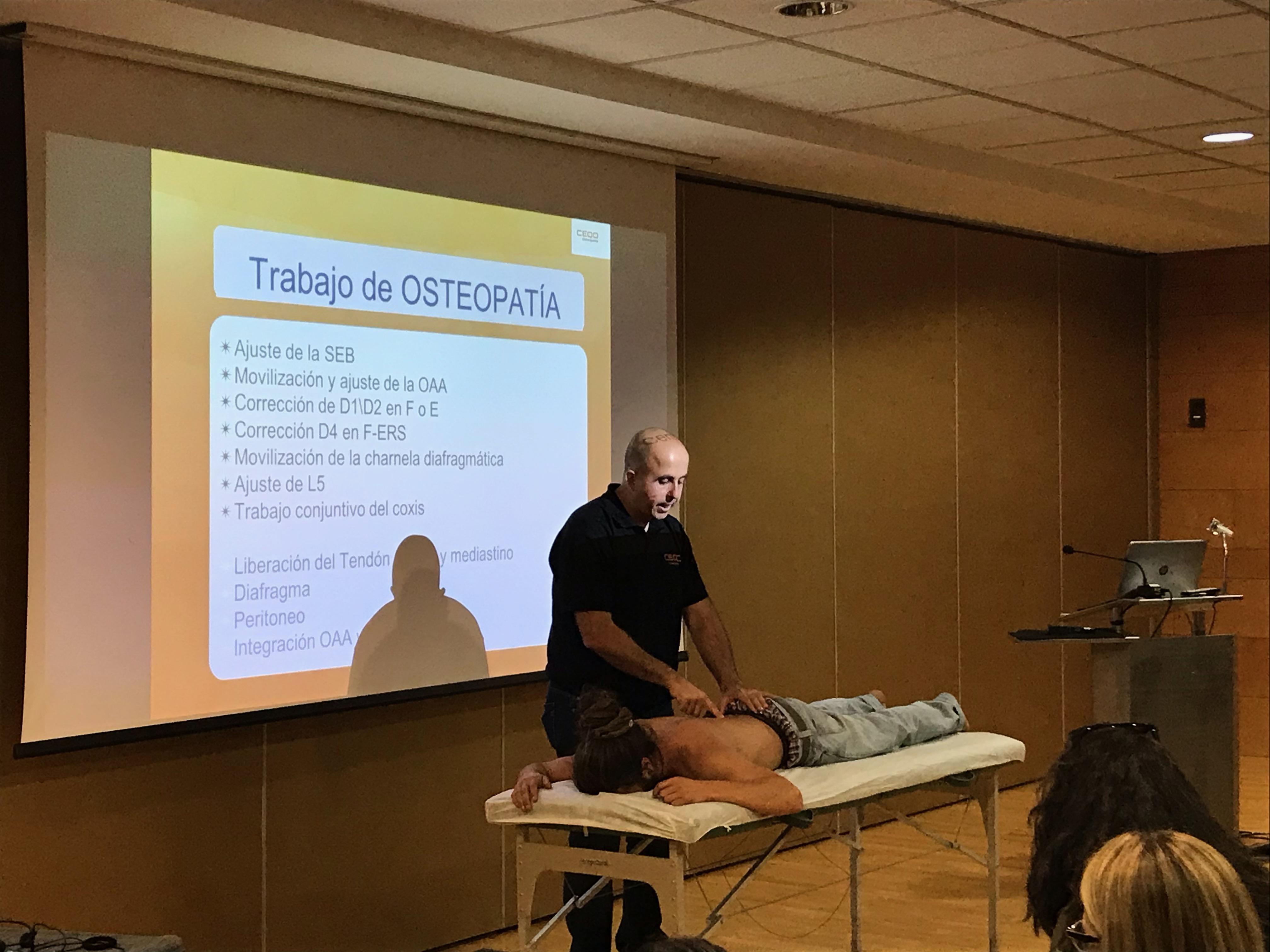 congreso de osteopatia y quiromasaje centro Ceqo